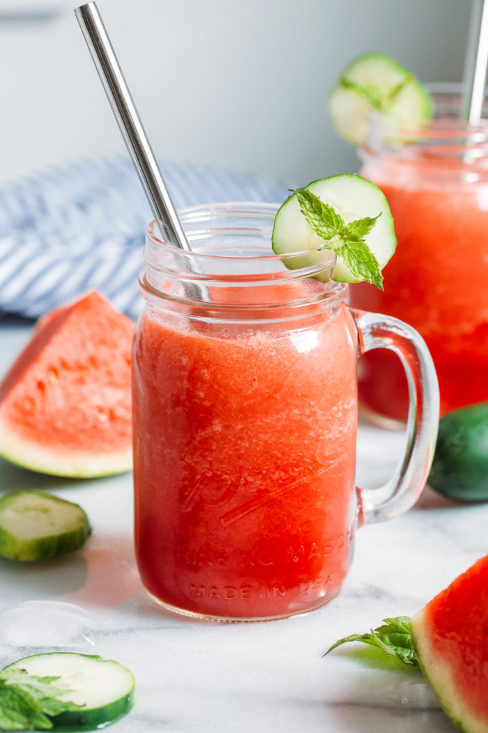 Hydrating Watermelon Mint Smoothie - Making Thyme for Health