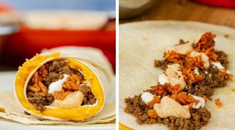 Taco Bell Quesarito (Copycat) Recipe- Dinner, then Dessert