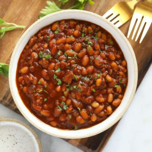 Instant Pot Baked Beans (Ready in ONE HOUR!) - Fit Foodie Finds