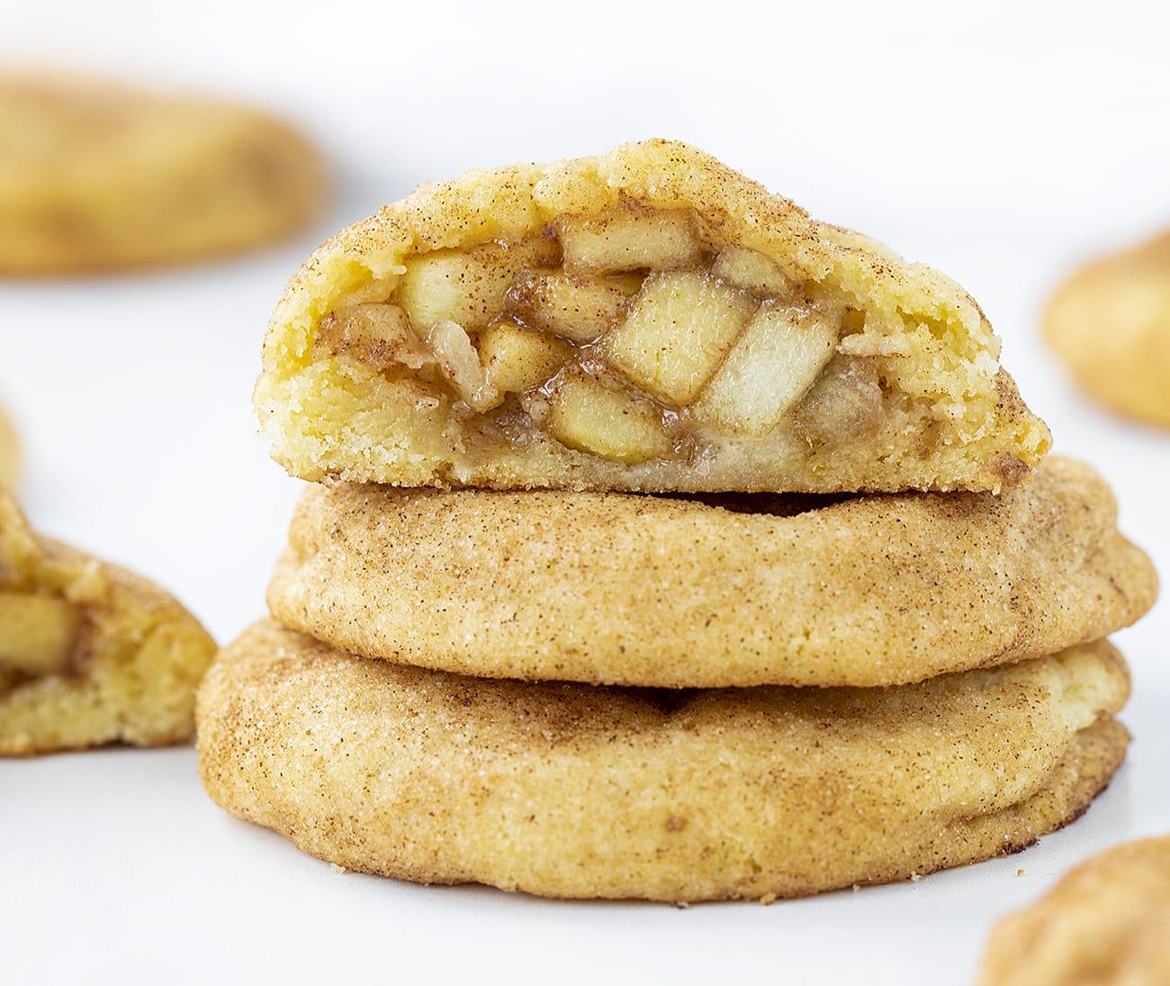 {Stuffed Cookie!} Apple Pie Snickerdoodles | i am baker