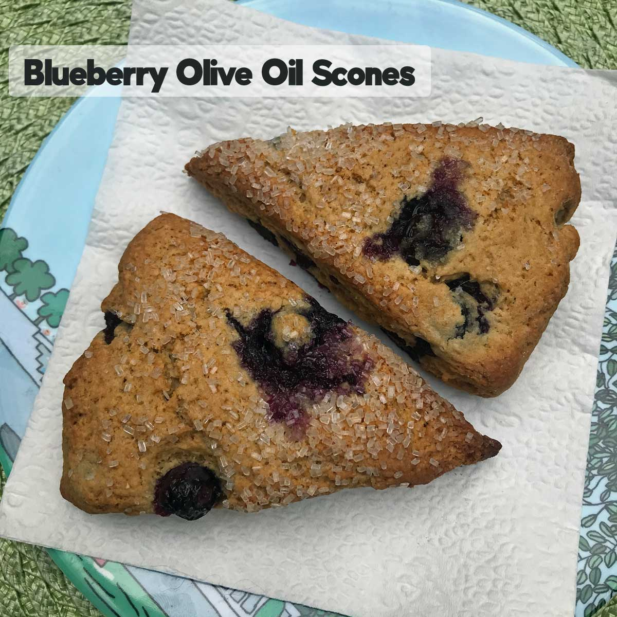 Blueberry Olive Oil Scones - Cookie Madness