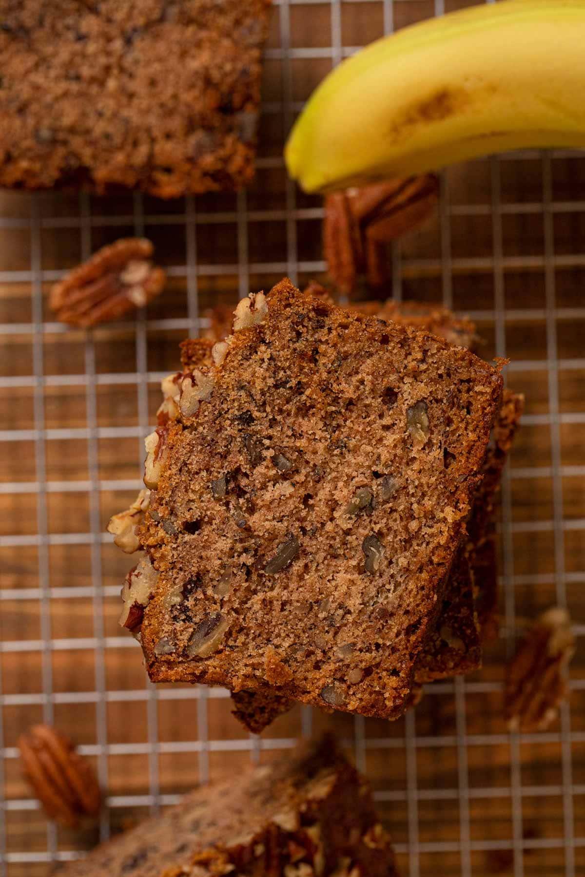 Pecan Honey Banana Bread Recipe - Dinner, then Dessert