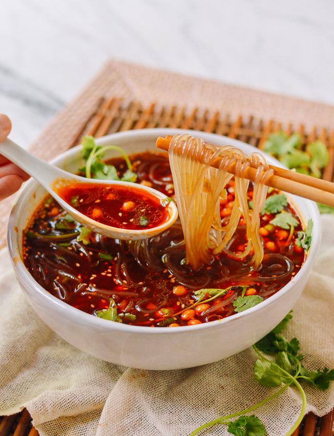 Suan La Fen (Chongqing Hot & Sour Noodle Soup)   The Woks of Life