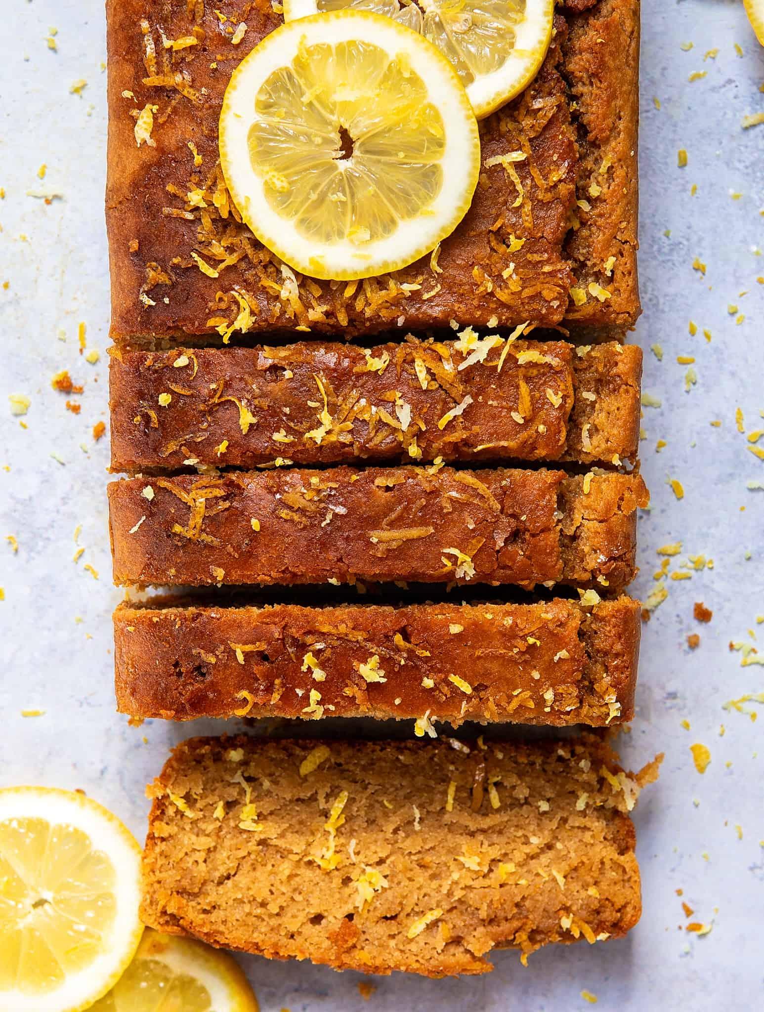Lemon Drizzle Cake - The Best Gluten-Free Vegan Refined Sugar Free