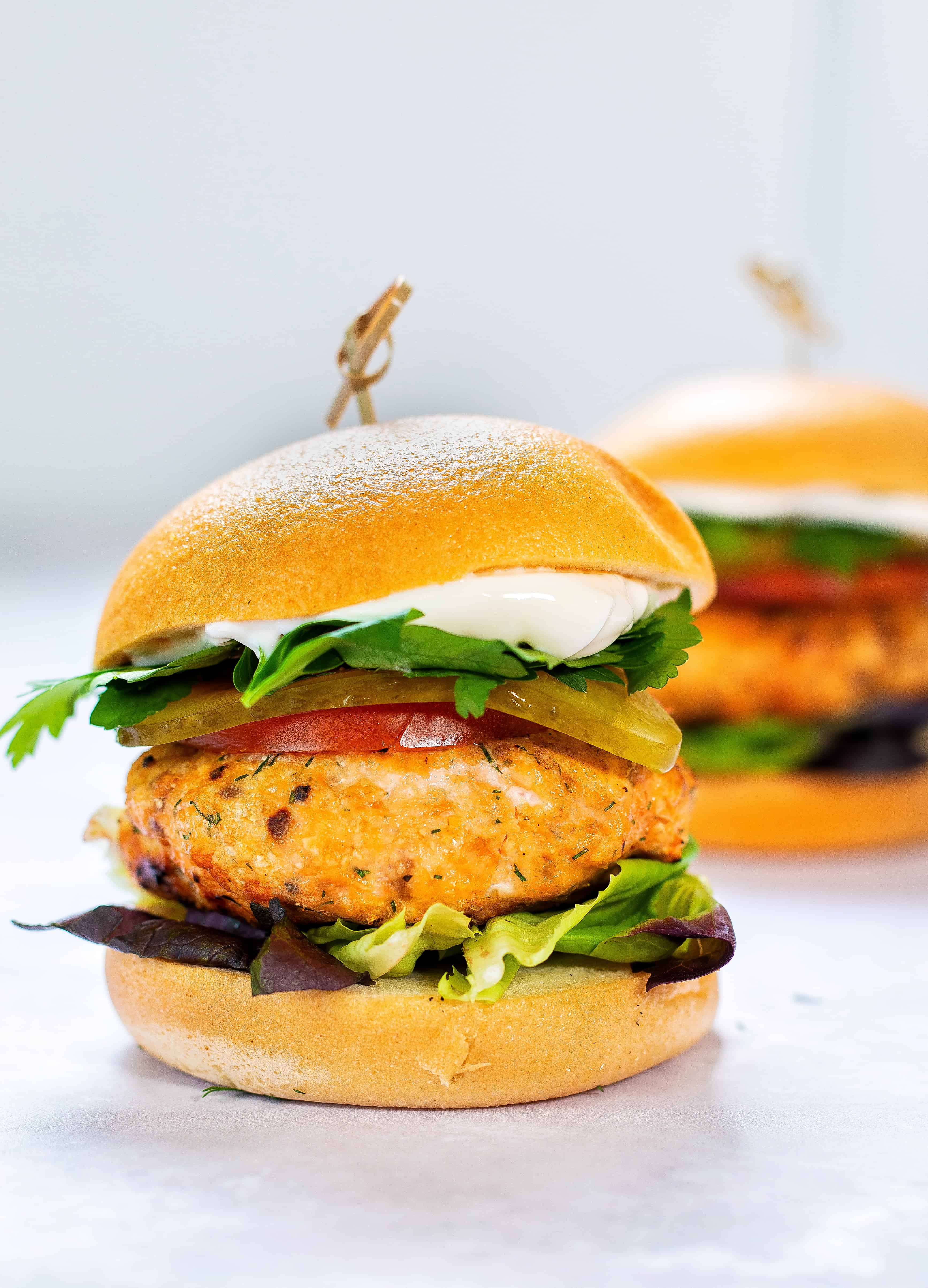 BBQ Salmon Burger - 15 minutes 6 ingredients gluten, dairy and egg free!