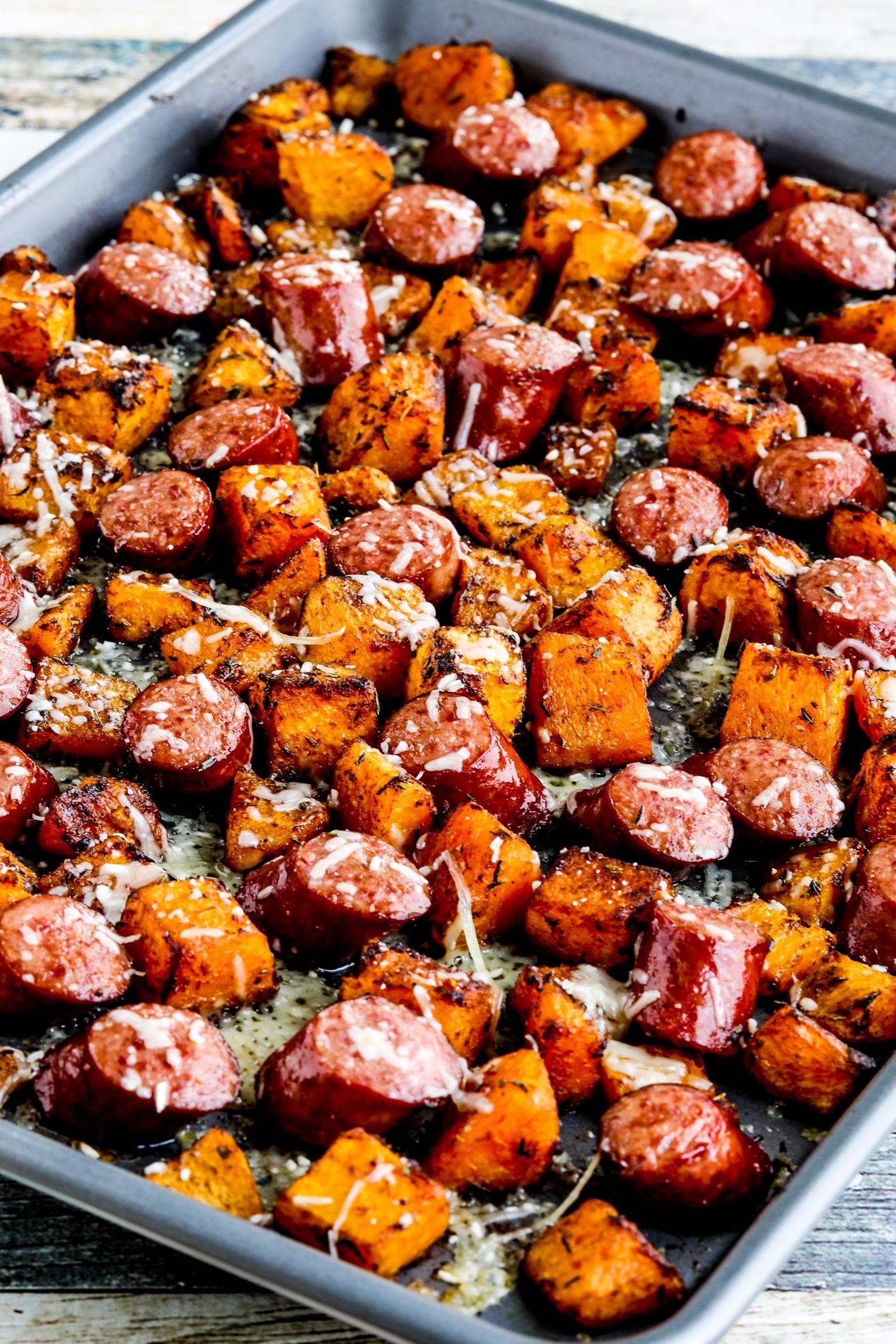 Roasted Butternut Squash and Sausage Sheet Pan Meal  Kalyn