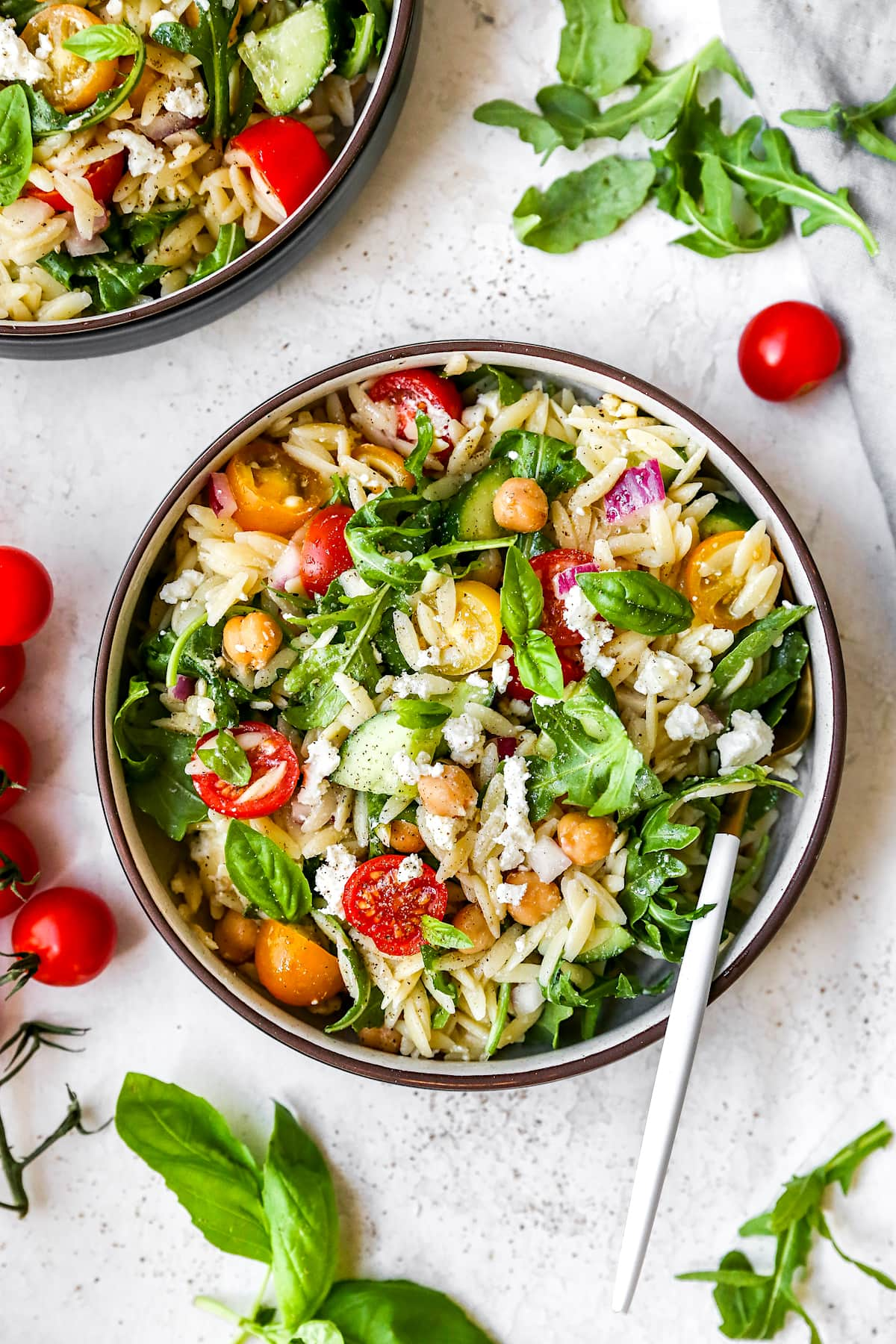 Easy Orzo Salad {Summer Favorite} - Two Peas & Their Pod