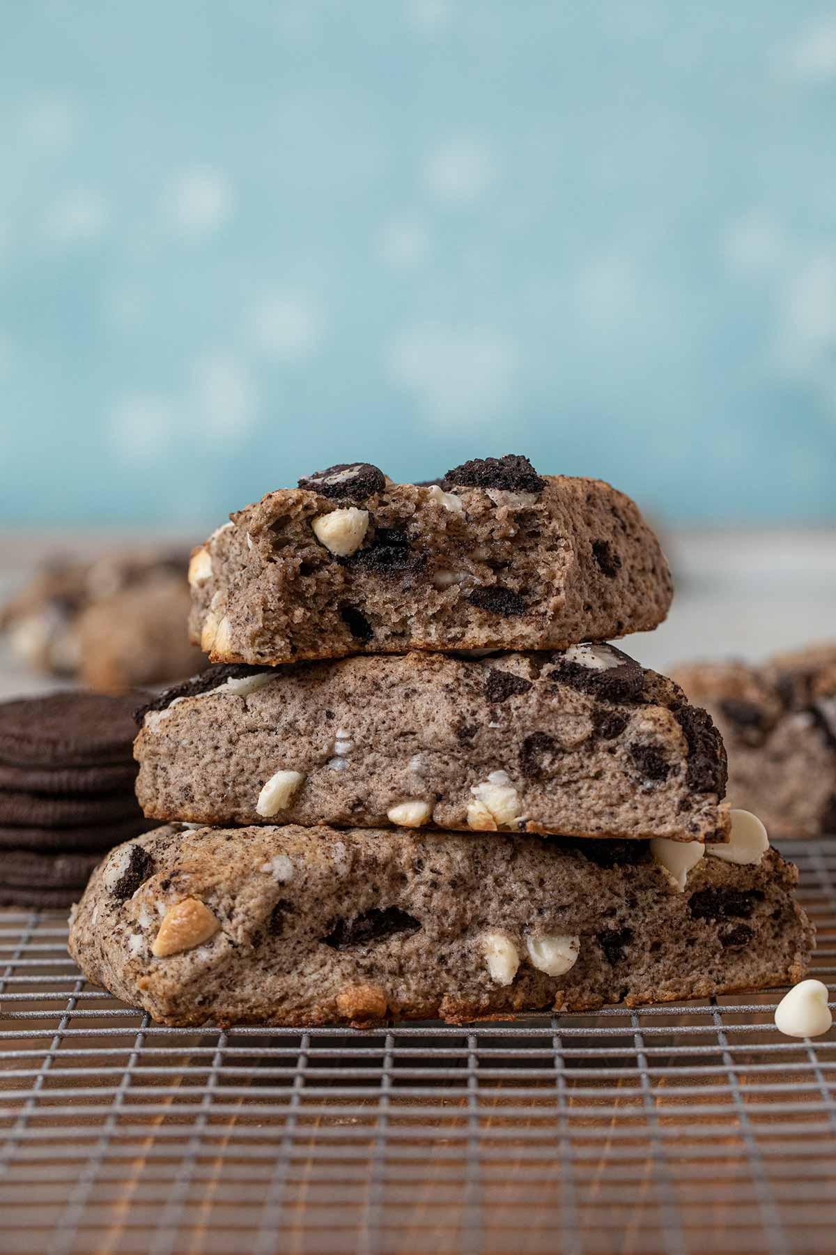 Oreo Scones Recipe (Cookies and Cream Scones) - Dinner, then Dessert
