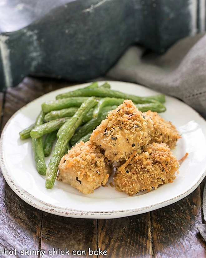 Herbed Chicken Nuggets - That Skinny Chick Can Bake