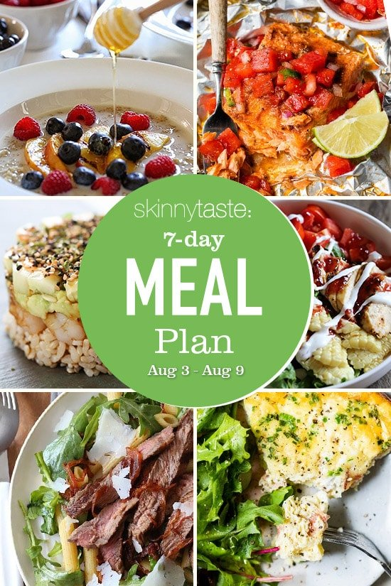 7 Day Healthy Meal Plan (Aug 3-9)