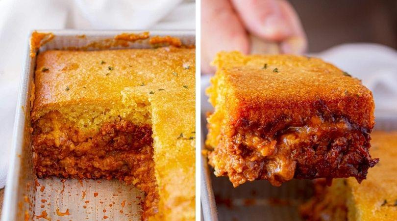 Easy BBQ Chicken Cornbread Casserole Recipe - Dinner, then Dessert