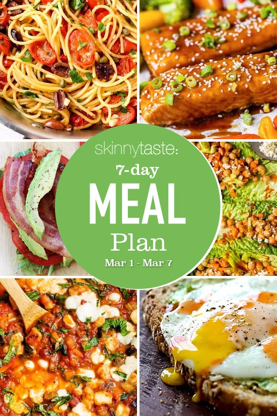 7 Day Healthy Meal Plan (March 1-7)