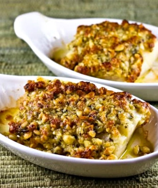 Baked White Fish with Pine Nut, Parmesan, and Pesto Crust  Kalyn's Kitchen