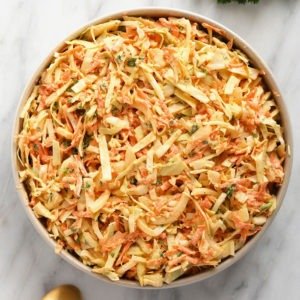 Creamy Coleslaw Recipe (perfect for a BBQ!) - Fit Foodie Finds