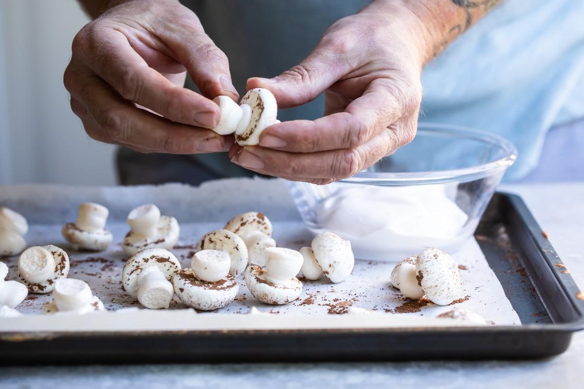 Meringue Mushrooms | Culinary Hill