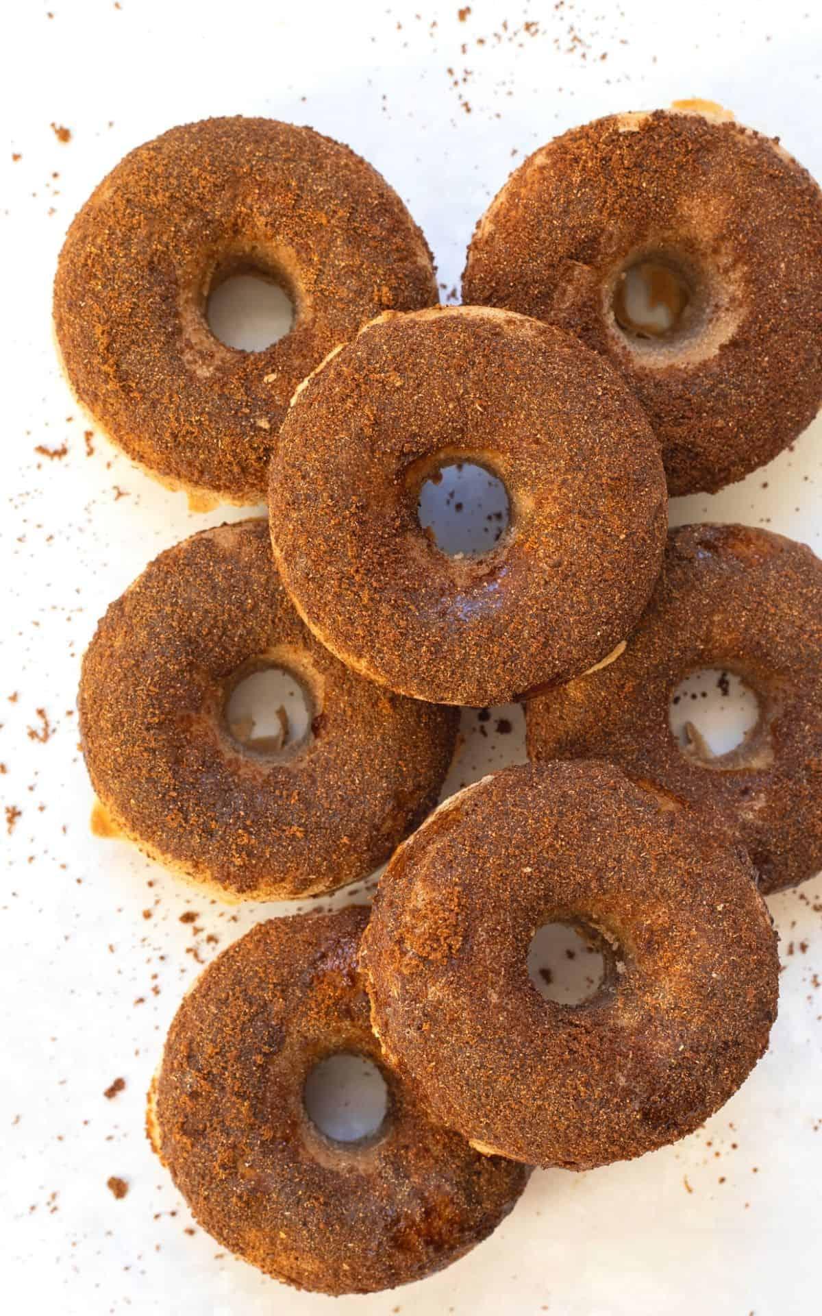 Gluten-Free Cinnamon Baked Doughnuts