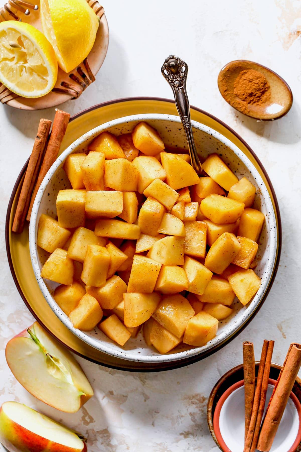 Skillet Cinnamon Apples {Easy} - Two Peas & Their Pod