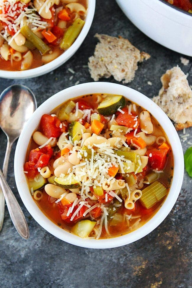 Classic Minestrone Soup {Easy} - Two Peas & Their Pod