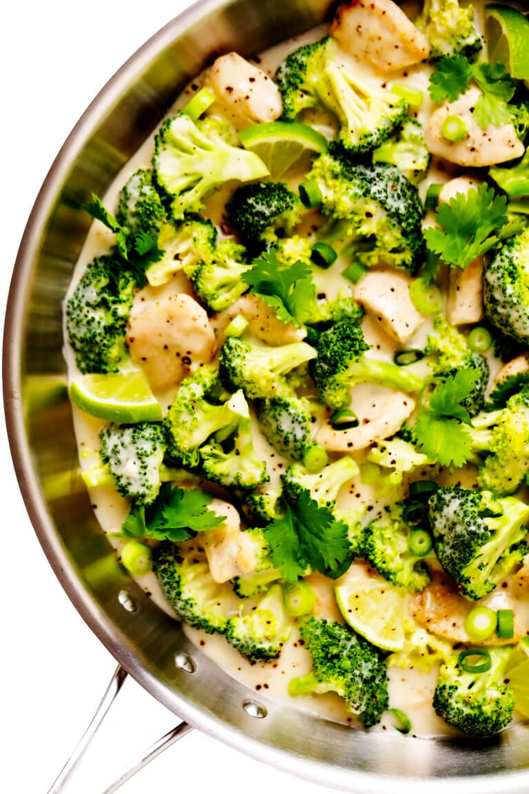 Coconut Lime Chicken and Broccoli   Gimme Some Oven