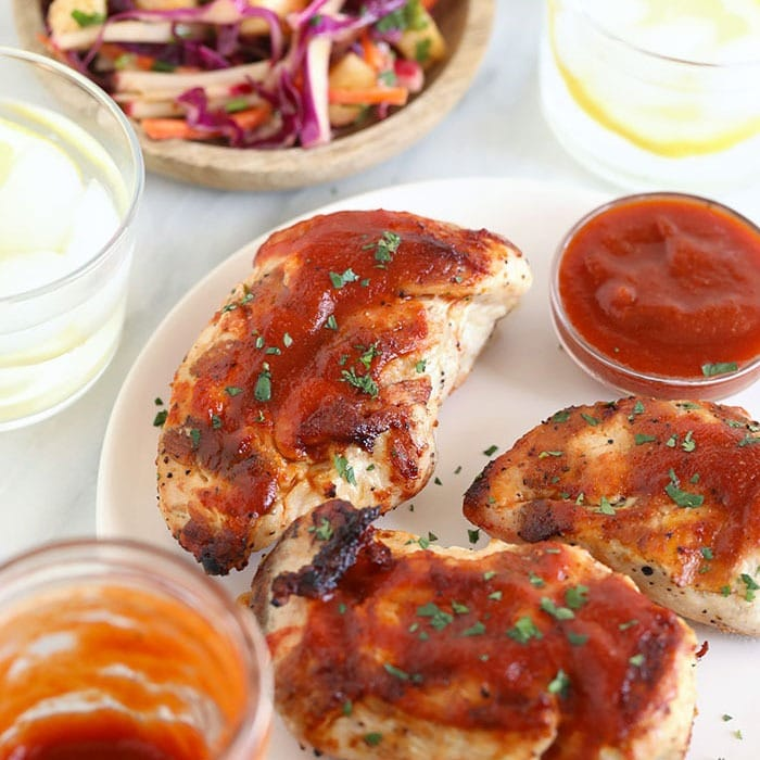 The BEST Grilled BBQ Chicken Breast Recipe - Fit Foodie Finds