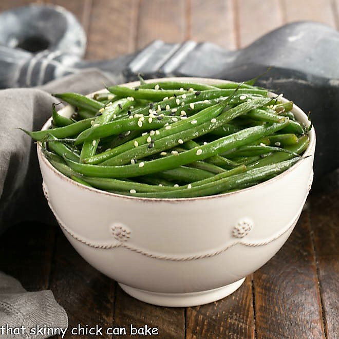 Asian Green Beans - That Skinny Chick Can Bake