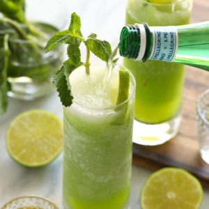 Frozen Mojitos (made with real mint!) - Fit Foodie Finds