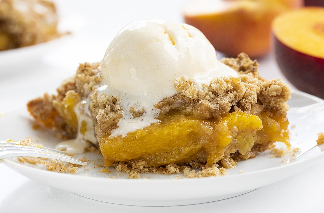 Double Crust Peach Crisp | i am baker