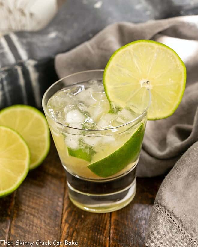Brazilian Caipirinha Cocktail - That Skinny Chick Can Bake