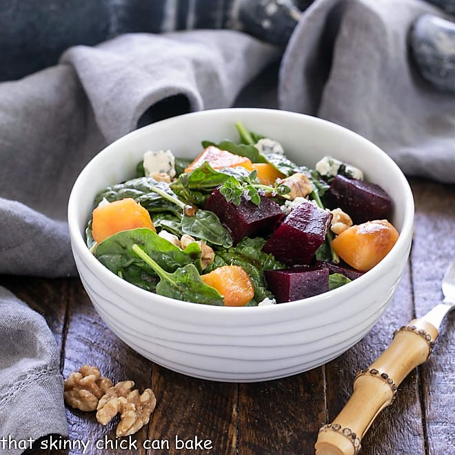 Peach and Beet Salad Recipe with Thyme Vinaigrette