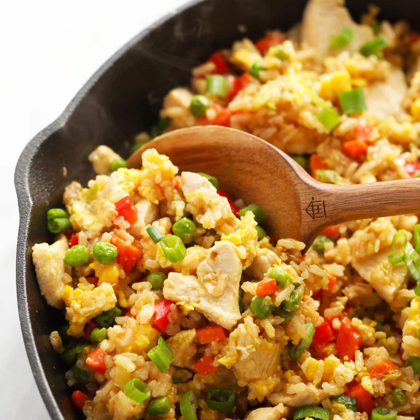 Easy Chicken Fried Rice (Favorite Fried Rice Recipe!) - Fit Foodie Finds