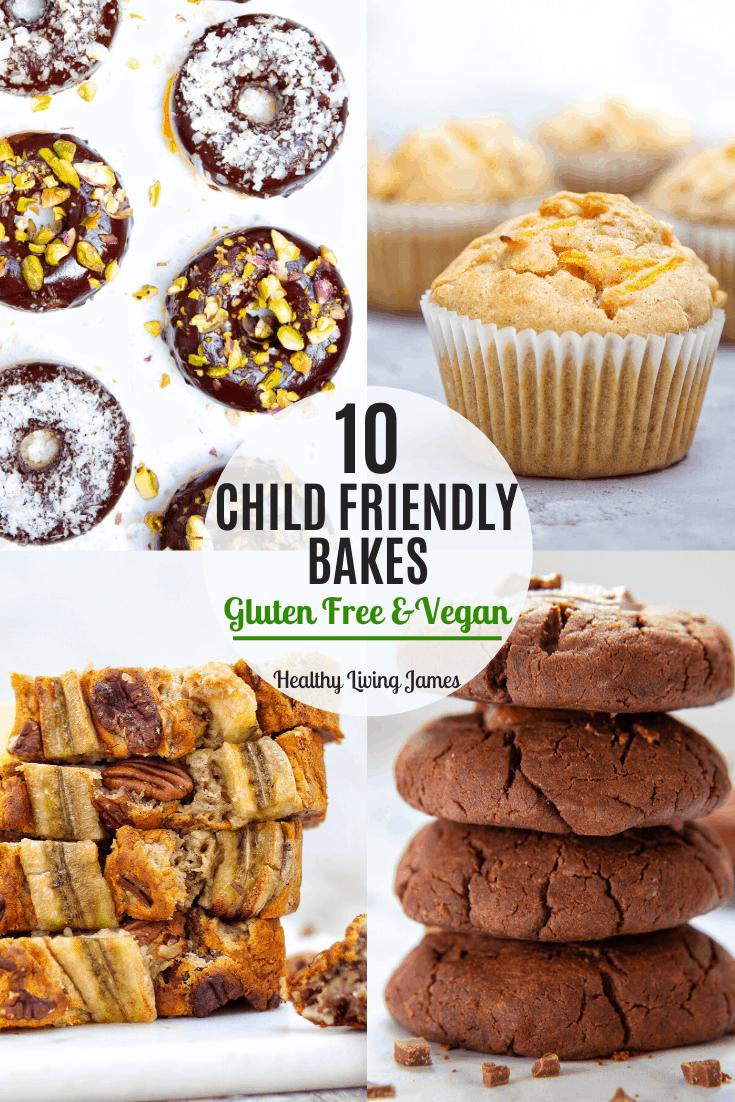 10 Child Friendly Baking Recipes - Easy Gluten-Free Vegan baking for kids