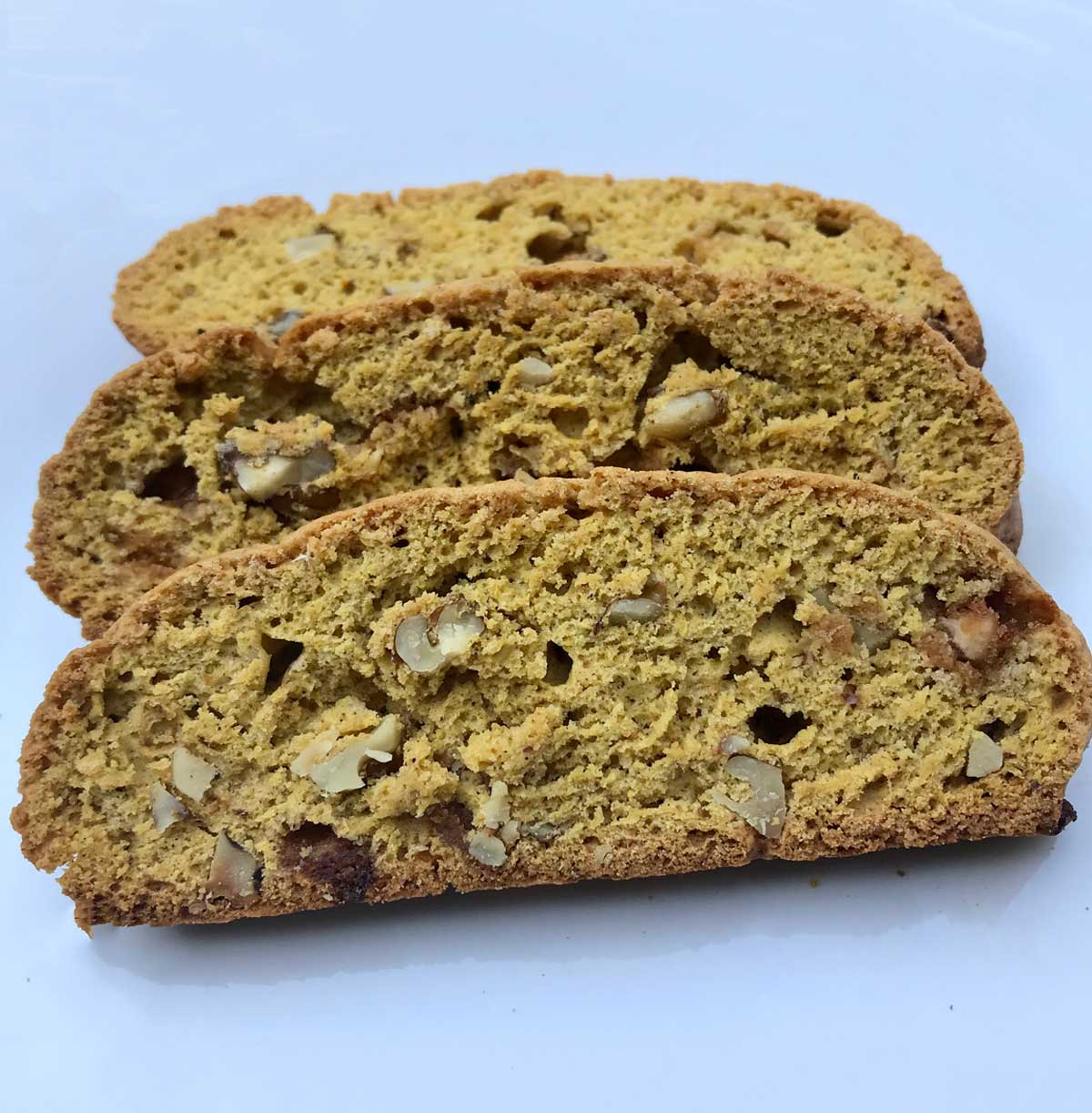Pumpkin Spice Biscotti with Caramel Chips - Cookie Madness