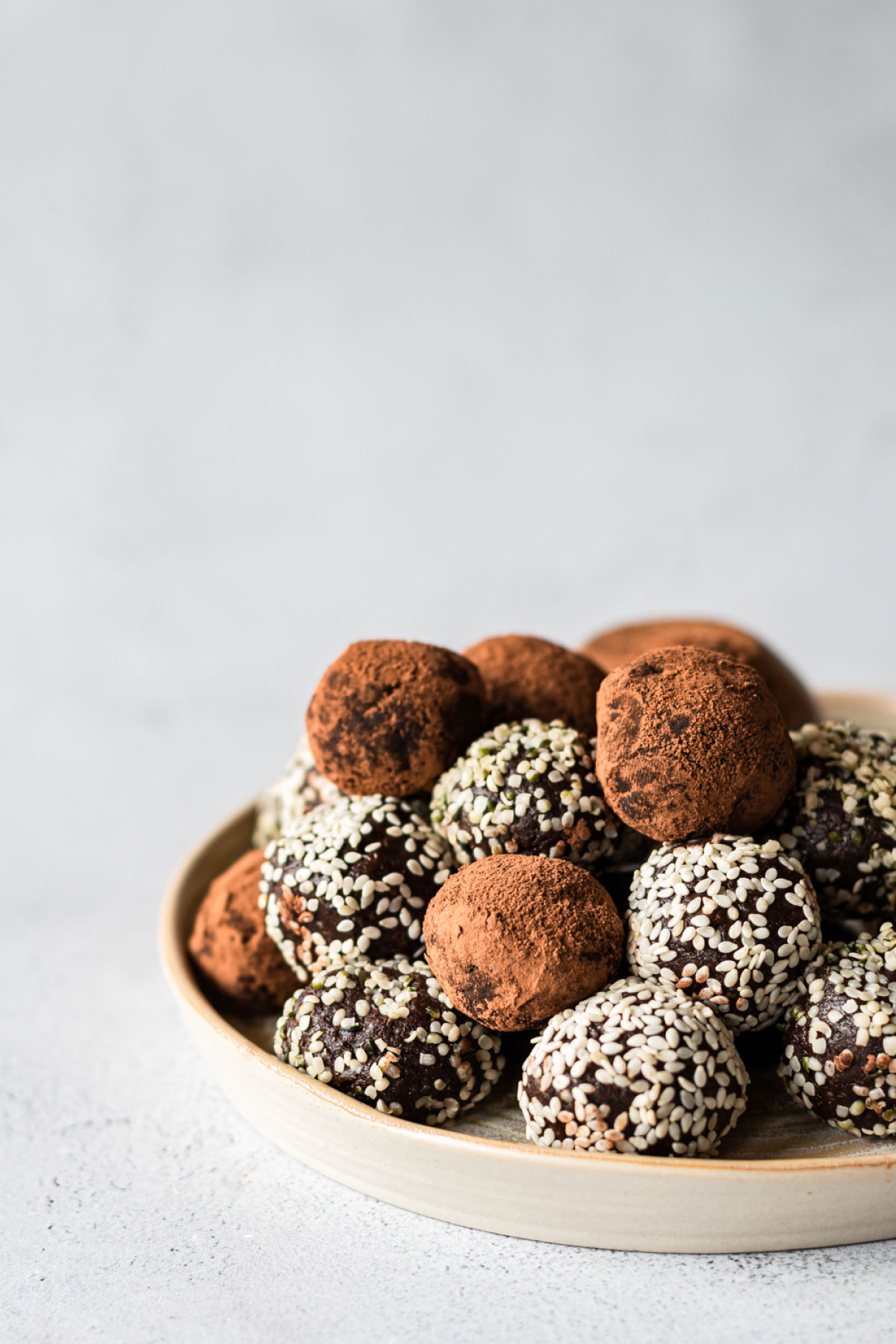 Chocolate Tahini Bliss Balls | The Crooked Carrot