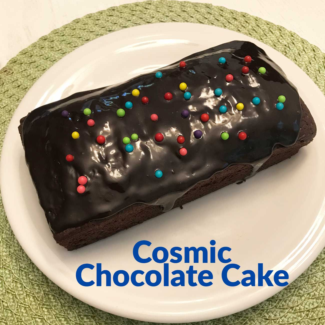 Cosmic Chocolate Cake - Cookie Madness