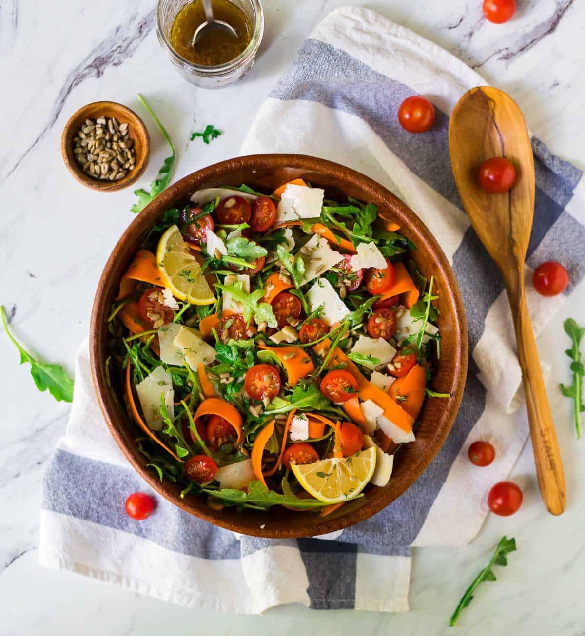 Arugula Salad {With Lemon Balsamic Dressing!} - WellPlated.com