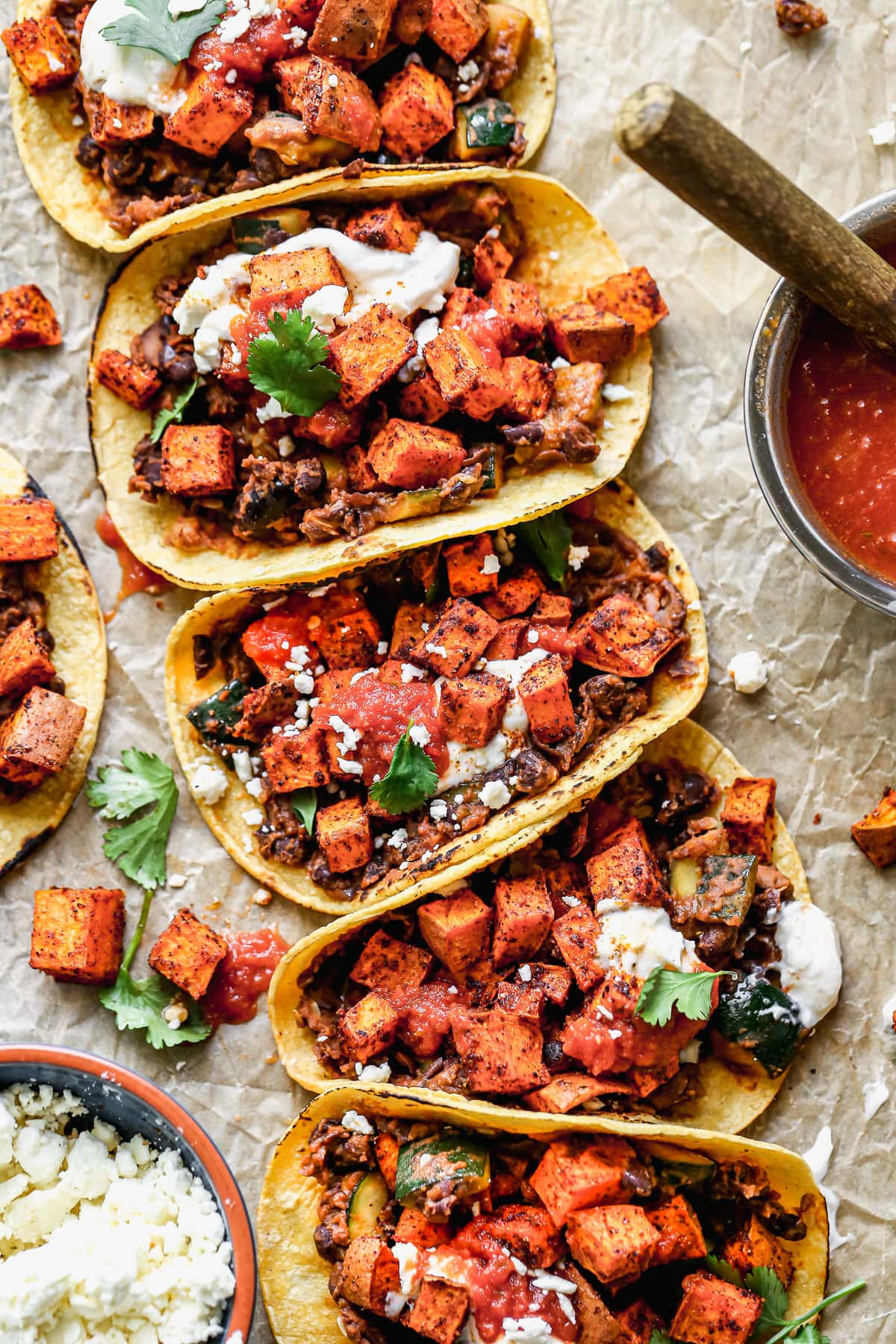 Vegetarian Tacos with Sweet Potatoes and Black Beans  WellPlated.com