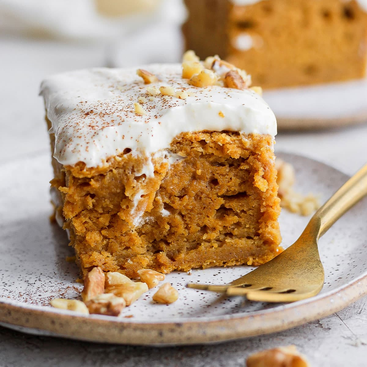 Pumpkin Sheet Cake (w/ cream cheese frosting!) - Fit Foodie Finds