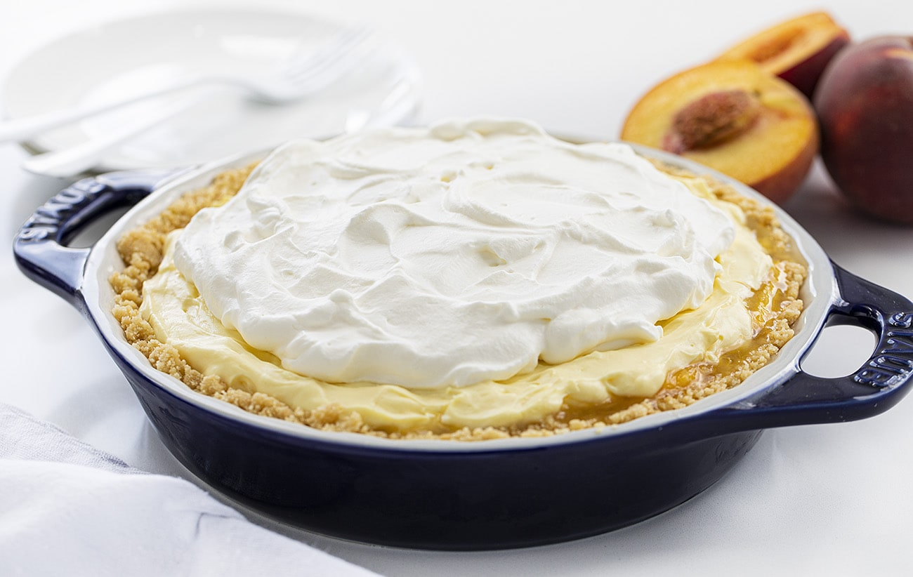 Peaches and Cream Pie | i am baker