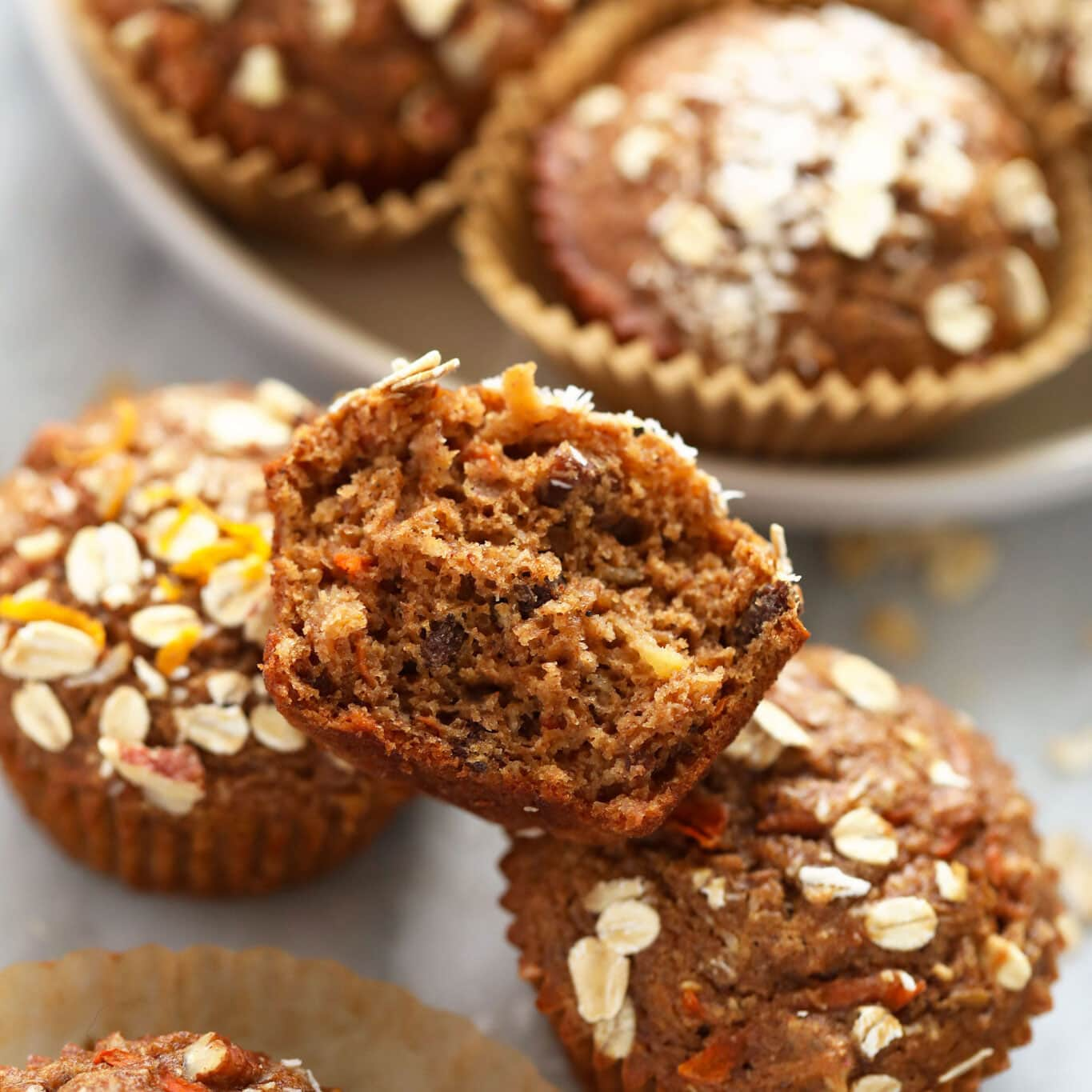 Morning Glory Muffins (Healthy!) - Fit Foodie Finds