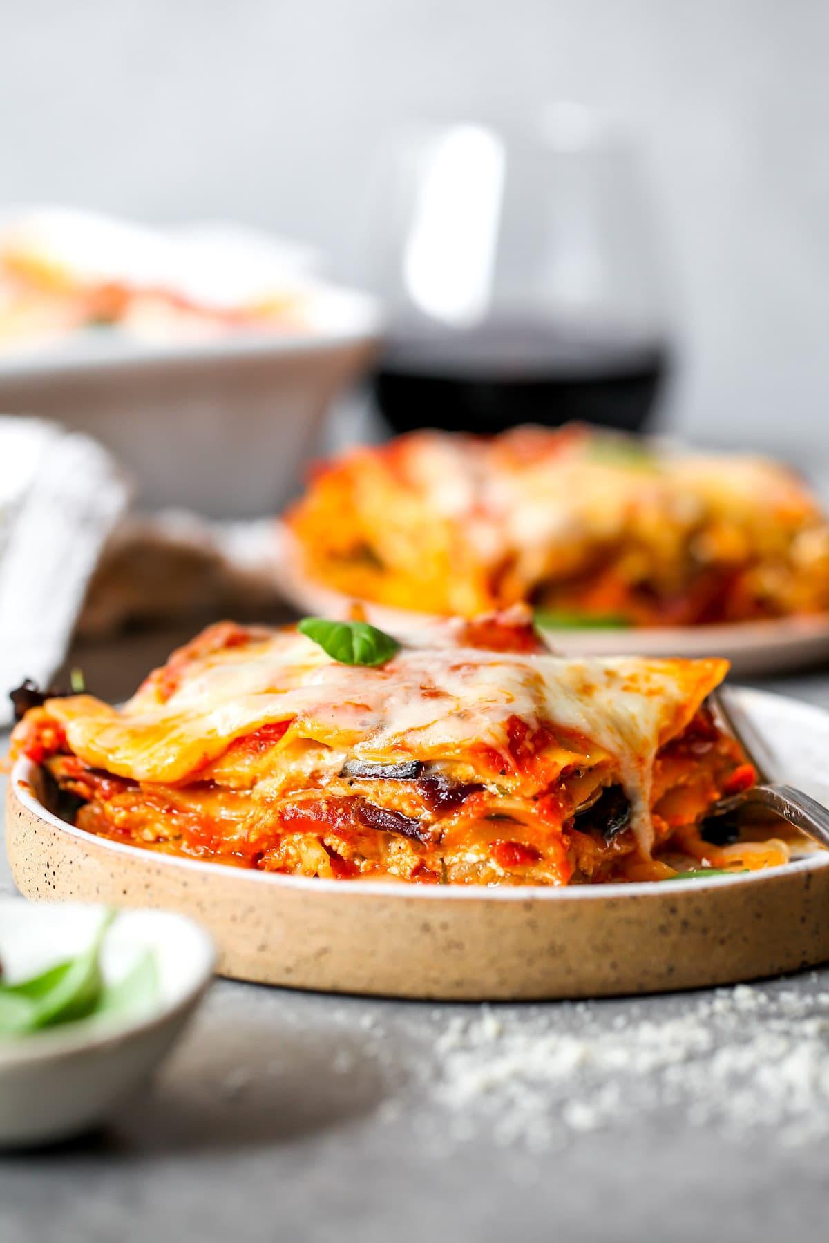 Vegetable Lasagna {Vegetarian} - Two Peas & Their Pod