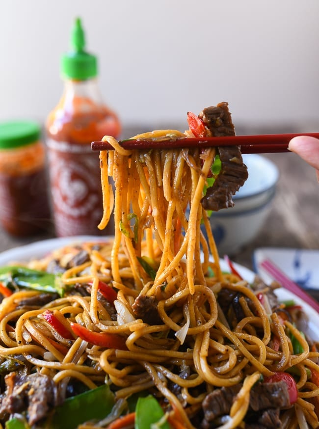 Beef Lo Mein: REAL Restaurant Recipe! | The Woks of Life