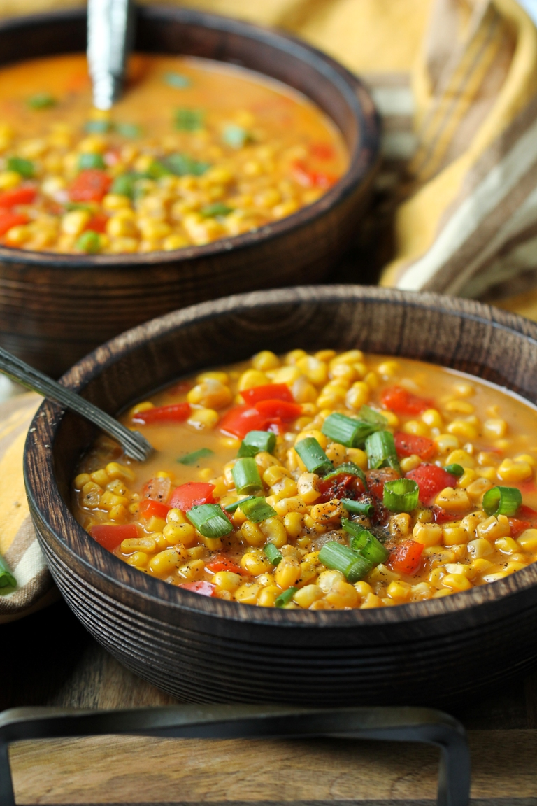 Easy Vegan Summer Corn Soup