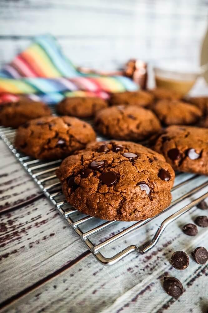 Vegan Double Chocolate Almond Butter Cookies