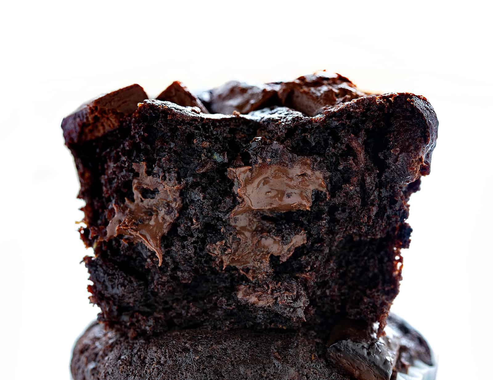 Chocolate Zucchini Muffins | i am baker