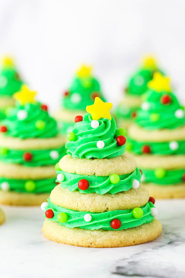 Stacked Sugar Cookie Christmas Trees