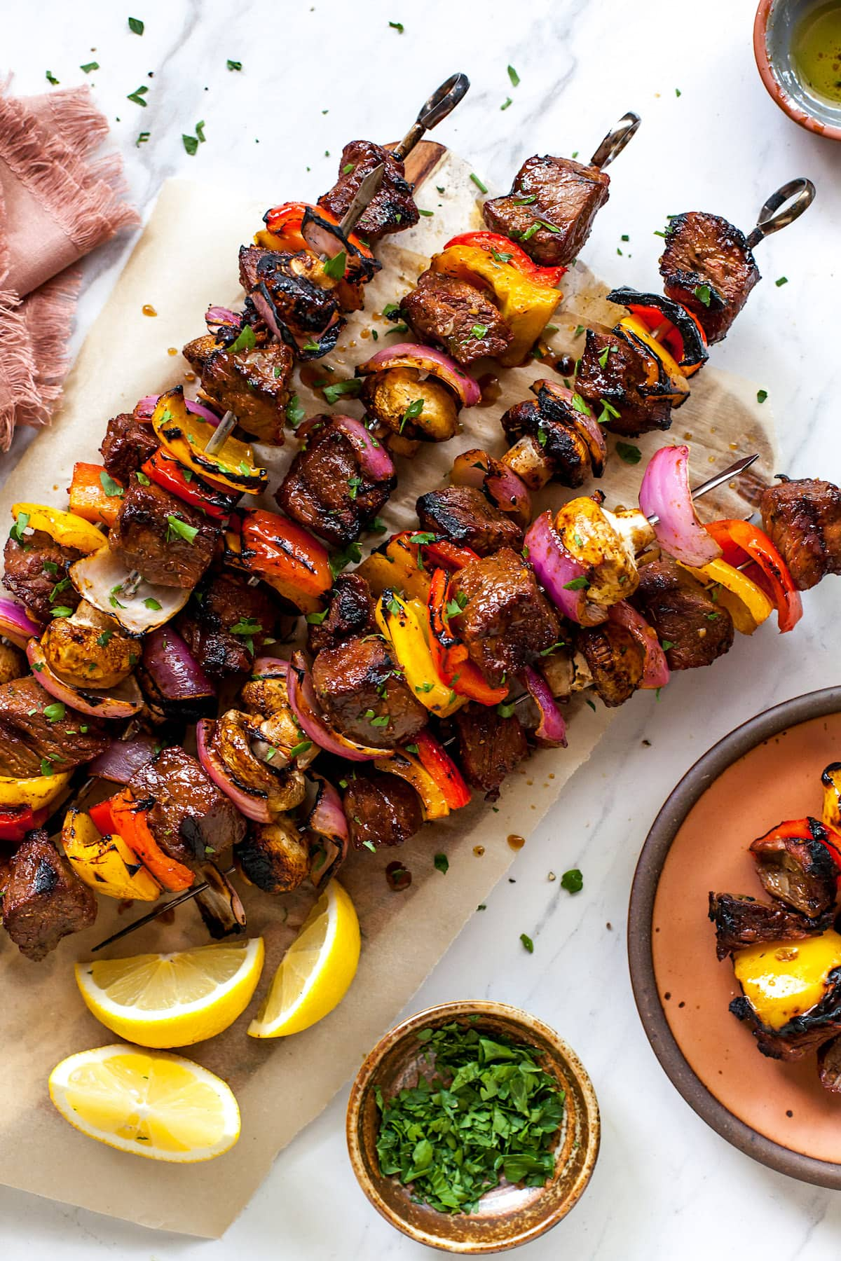 Steak Kabobs {With Steak Marinade} - Two Peas & Their Pod