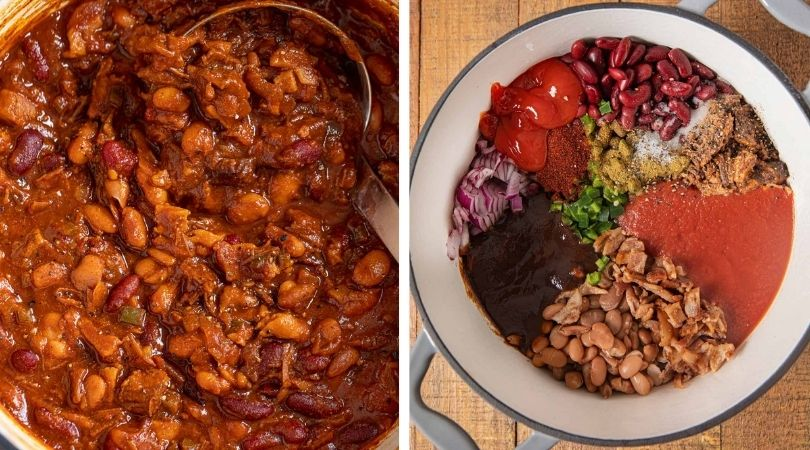 Easy Brisket Cowboy Beans Recipe - Dinner, then Dessert