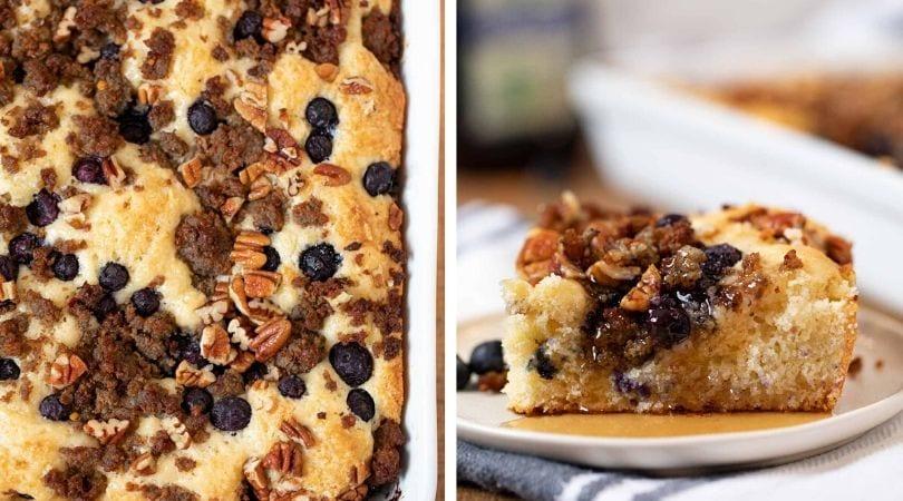 Blueberry Sausage Biscuit Casserole Recipe- Dinner, then Dessert
