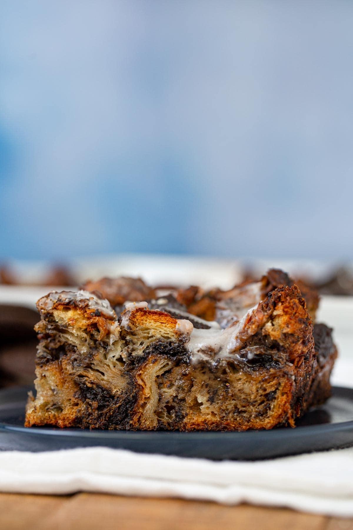 Oreo Croissant Bread Pudding recipe - Dinner, then Dessert