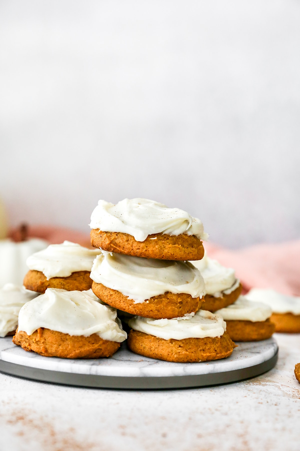 Pumpkin Cookies {Cream Cheese Frosting} - Two Peas & Their Pod